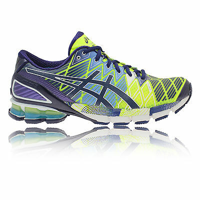 Asics Gel-Kinsei 5 Mens Green Blue Cushioned Road Running Sports Shoes Trainers