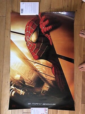 Rare double sided banned Spider-Man Twin Towers movie teaser poster banner