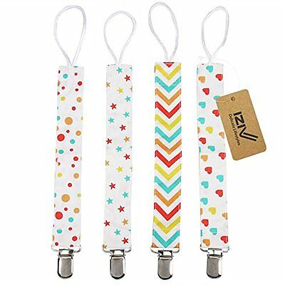 iZiv(TM) Dummy Clip - 3 Pack - Ziggy Baby 2-Sided Pacifier Clip Design, Pacifier