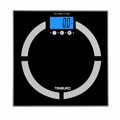 180k/400lb Electronic Digital Body Fat Toughened Glass Bathroom Scale New
