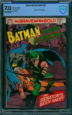 Brave & the Bold # 85  Batman and the Green Arrow  !  CBCS 7.0 scarce book !