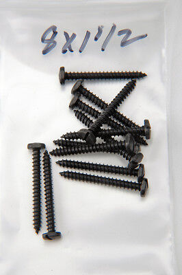 Wood Screws Slotted Pyramid Square Head Steel Black Oxide #8 X 1-1/2 PSS8112