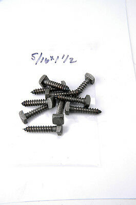 "Lag Bolt Screws Square Head Plain 5/16"" X 1-1/2"" LB516112"