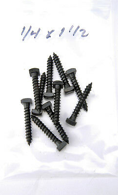 "Lag Bolt Screws Square Head Black Oxide 1/4"" X 1-1/2"" LBB14112"
