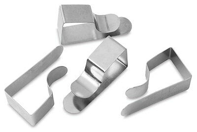 Drawing Board Clips Paper Holder Steel Drawingboard Clamp Pins Chrome 25x50mm