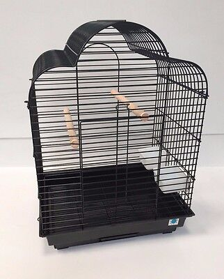 Gabby Large Bird Cage For Cockatiel Black or White 72 x 52 x 41 cm High Quality