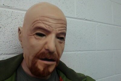 Walter White Mask Heisenberg Halloween Fancy Dress Costume Full Head SECONDS