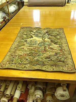 Pheasantry In Woodland Hand Stitched Tapestry