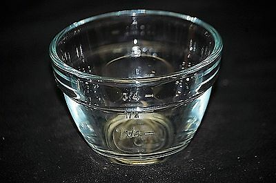 The Pampered Chef 1 Cup Measuring Ingredient Prep Bowl Clear Glass Utensil USA
