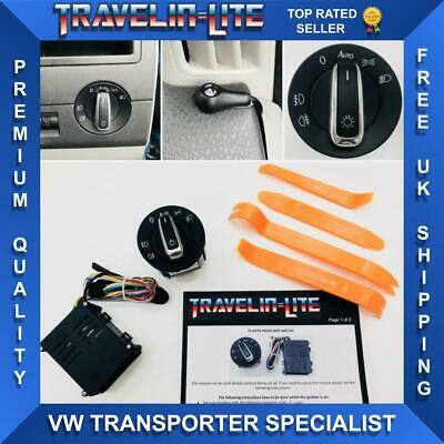 For VW T5 T5.1 Transporter Auto Headlights Switch & Module Upgrade 03 - 15 New