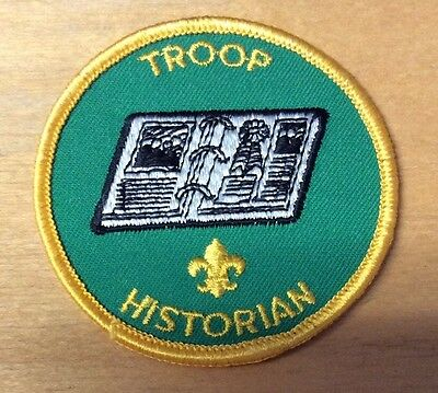 Boy Scouts Troop Historian Patch  Never Used