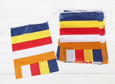 129 Inches Buddhism Tibet Prayer Flag Five Colors Interational  Religious Banner