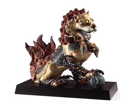 Lladro 1001993 (GUARDIAN LION (RED) - Leone guardiano