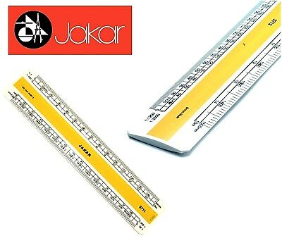 Jakar Professional Metric Plastic Flat Oval Scale Ruler Acrylic Rule 15 or 30cm
