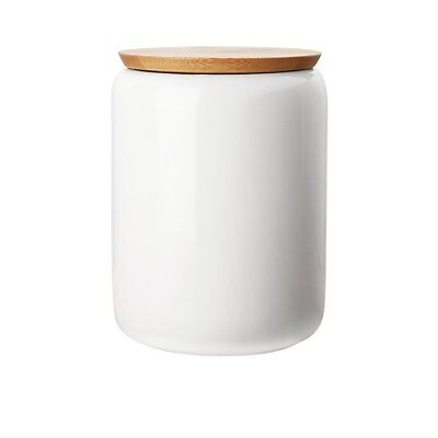 NEW Maxwell & Williams White Basics Canister w/ Bamboo Lid 1.2L