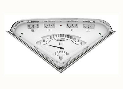 55 56 57 58 59 Chevy Truck Classic Instruments Gauge Panel Cluster Dash White