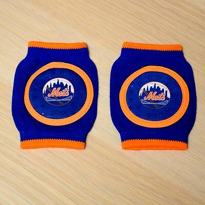 New York Mets Baby Infant Knee Pad Crawlers (FREE SHIPPING) 6-18 months