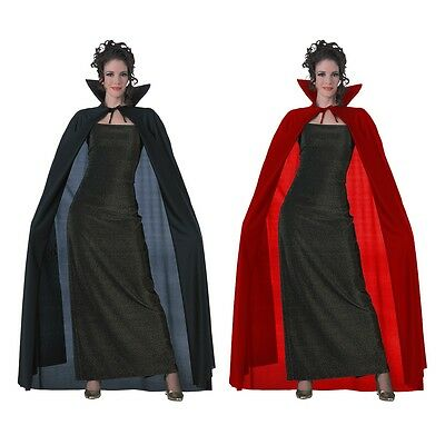 Full Length Cape Adult Vampire Magician Cloak Halloween Fancy Dress Costume Acsy