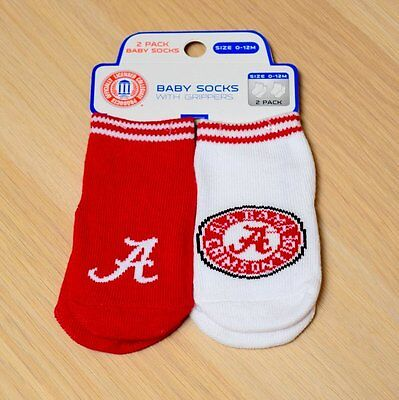 Alabama Crimson Tide Baby Infant Socks with Gripper (FREE SHIPPING) 12-24 months