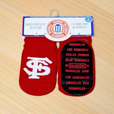 Florida State Seminoles Baby Infant Skid Proof Socks (FREE SHIPPING) 0-6 months