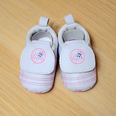 New York Yankees Baby Girl Infant Pink Booties Shoes (FREE SHIPPING) 18-24 month