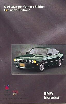 1996 BMW 525i Olympic Games Edition Brochure d0712