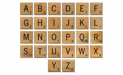 100/200 Wooden Scrabble Tiles Black Letters Scrabbles For Crafts Wood Alphabets