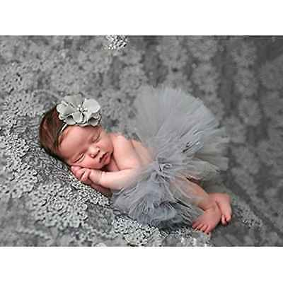 Newborn Baby Photography Props Girl Crochet Costume Outfits Tutu Skirt Headdress
