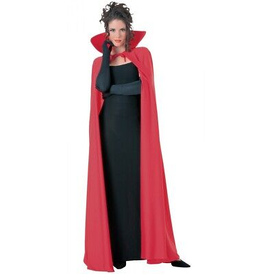 Red Cape w/ Stand Up Collar Adult Halloween Costume Masquerade Ball Fancy Dress