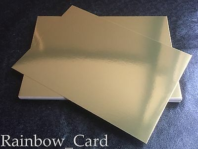 20 Sheets - Gold Mirror A4 Crafting Card 235 Gsm
