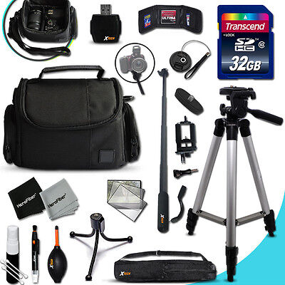 Xtech Kit for Canon POWERSHOT SX500 Ultimate w/ 32GB Memory + Case +MORE