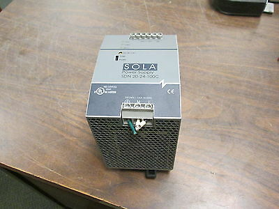 Sola Power Supply SDN 20-24-100C Input: 100-240V 5.6A 50/60Hz Used