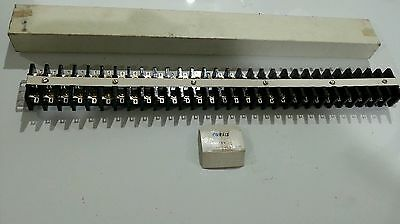 Curtis CURTIS30 30 Position 60A 2 Row Barrier Terminal Strip with Brackets new