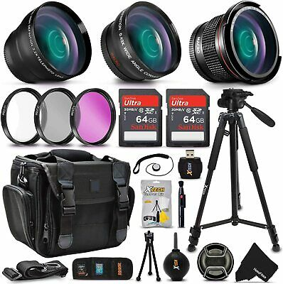 Xtech Kit for Canon EOS 750D - Deluxe 28 Piece w/ 3 Lenses +24GB Mmry +MORE