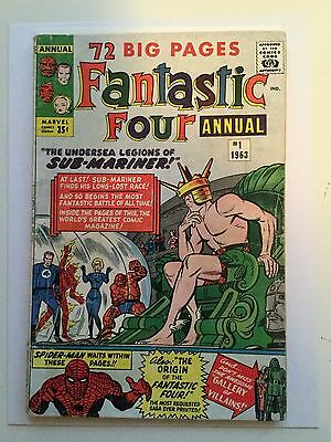 Fantastic Four Annual #1 rare comic book 1963