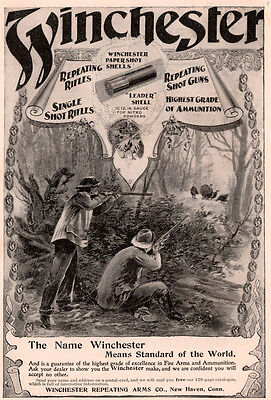 1896 B Ad Winchester Repeating Arms Co Wild Turkey Hunters Full Page