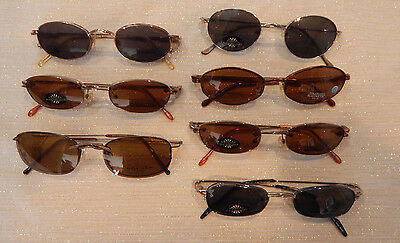 7 pc. DESIGNER MAGNETIC CLIP ON Eyeglass Frame Lot New Old Stock