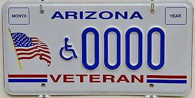 Arizona Disabled VETERAN Sample License Plate ++ AZ DV