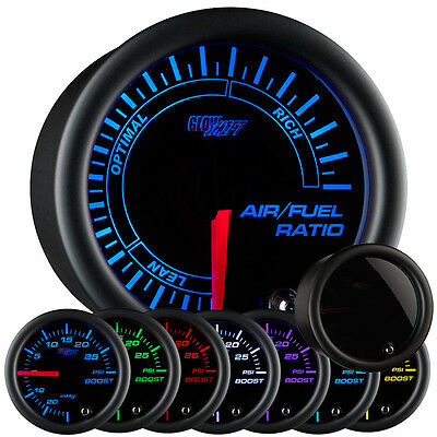 52mm GLOWSHIFT SMOKED OUT 7 COLOR LED NARROWBAND AIR FUEL RATIO AFR GAUGE KIT