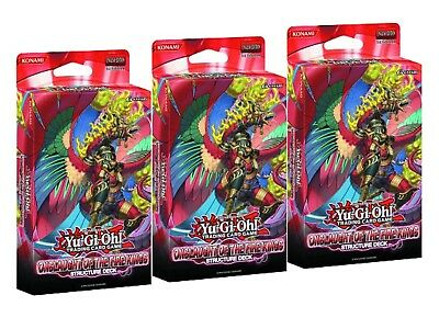 Yu-Gi-Oh Onslaught of the Fire Kings lot of 3 Structure Decks of 40 Cards