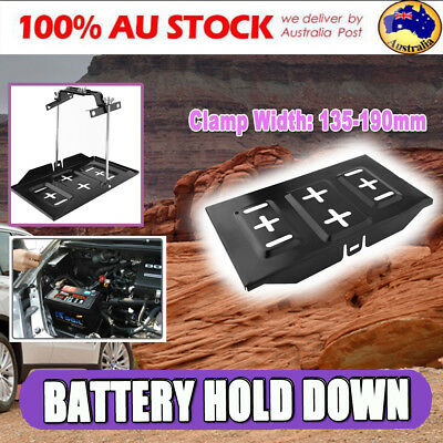 Universal Car Battery Tray Holder Down Clamp 135mm to 190mm Kit Cycle Adjustable