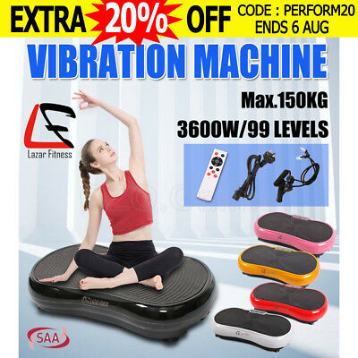 Lazar Fitness Ultra Slim Body Shaper Vibration Machine Trainer Platform Exercise