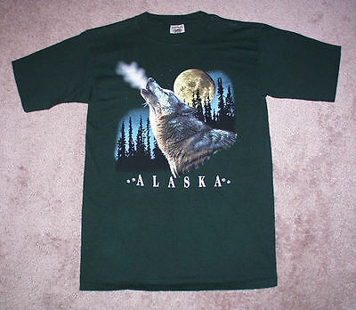 Prarie Mountain Howling Wolf Vintage T Shirt Size Adult Medium, New