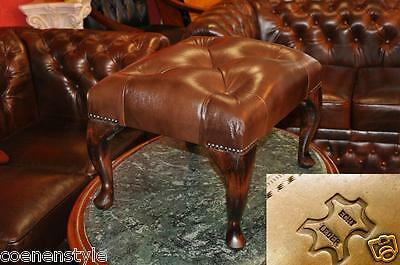 Fußhocker Chesterfield Hocker Crawford  Footstool SitzbankE400 Aniline