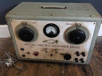 Vintage  Cintel Mutual And Self Inductance Bridge Industrial Display Prop Manca