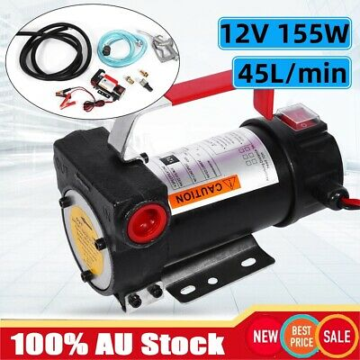 12V DC Electric Bowser Transfer Pump Diesel Oil Fuel Commercial Series Tool AFZ