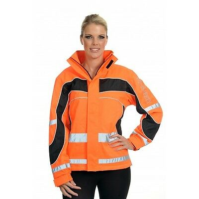 Equisafety - Polite Aspey High Viz Winter Horse Riding Jacket Orange