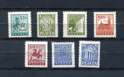 Germany Soviet Occupation Zone Local Issue Plauen Michel 1-7 Perfect Mnh