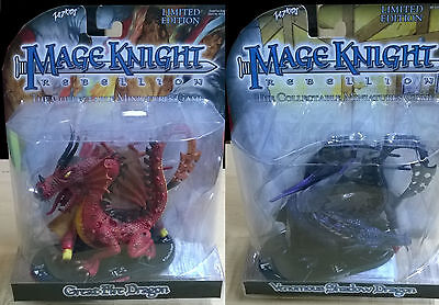 WizKids Mage Knight Black & Red-Dragon-Pack: Fire Dragon + Shadow Dragon (Mint)
