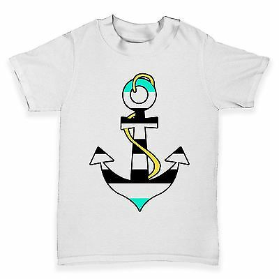 Twisted Envy Nautical Anchor Baby Toddler Funny T-Shirt